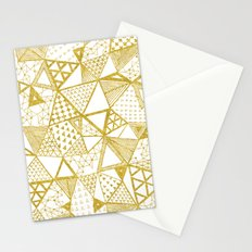 Golden Doodle triangles Stationery Cards