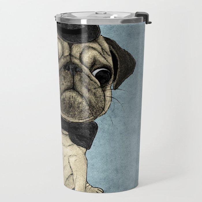 Pug; Gentle Pug (v3) Travel Mug