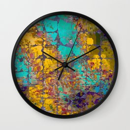 Desert Oasis Abstract Pattern Wall Clock