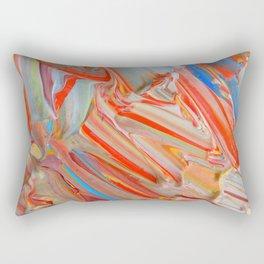 Orange Swirl Rectangular Pillow