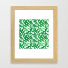 Tropical Leaf Print Framed Art Print