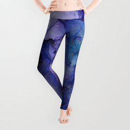 Abstract Watercolor and Ink Leggings
