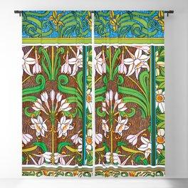 Jonquil Art Nouveau Flower Tiles Blackout Curtain