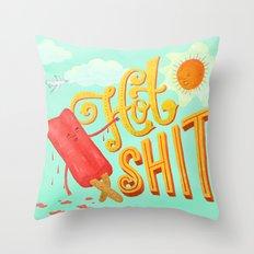 Hot Shit Throw Pillow