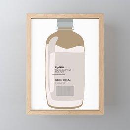 Tip in a Bottle №8 Framed Mini Art Print