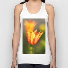 Red and yellow tulip Unisex Tank Top