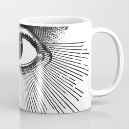 I See You. Black and White Coffee Mug