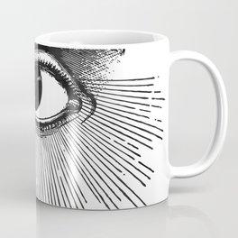 I See You. Black and White Coffee Mug