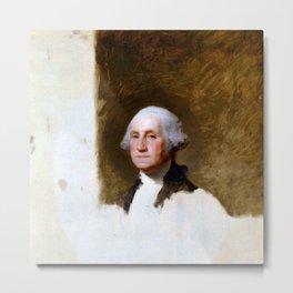"Gilbert Stuart ""Portrait of George Washington (The Athenaeum Portrait)"" Metal Print"