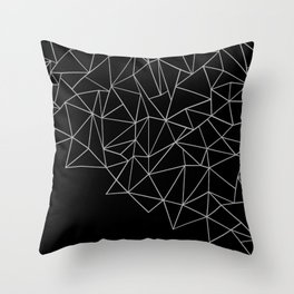 Ab Storm Black Throw Pillow