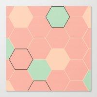 hexagon Canvas Prints featuring Hexagon  by Studio Joan