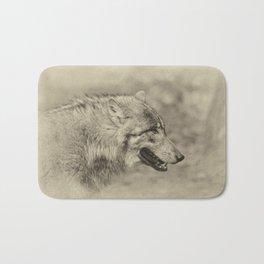 lonesome wolf Bath Mat
