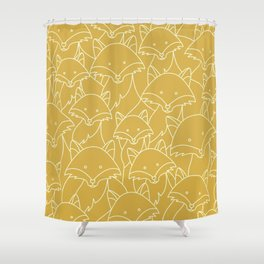 Minimalist Red Fox Shower Curtain