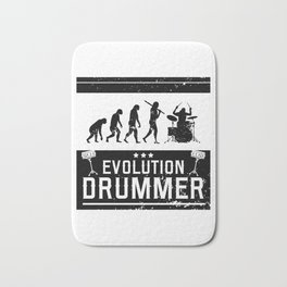 Evolution Drummer | Drums Musician Bath Mat
