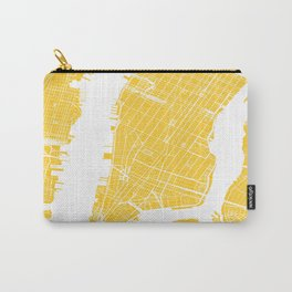 Yellow City Map of New York, USA Carry-All Pouch