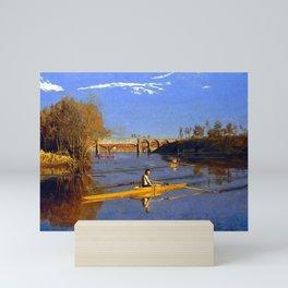 Thomas Eakins Max Schmitt in a Single Scull Mini Art Print