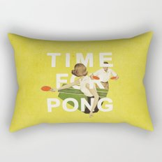 Time For Pong Rectangular Pillow