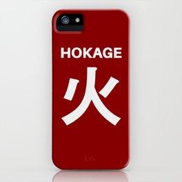 Hokage Typo iPhone Case