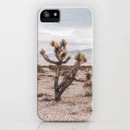 Vintage Desert Hombre // Cactus Cowboy Mojave Landscape Photograph Sunshine Hippie Mountain Decor iPhone Case