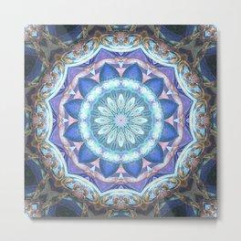 Abstract Violet Kaleidoscope Metal Print