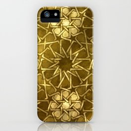 Glam Art Deco Pattern: Intoxicated By Ruby Lips iPhone Case