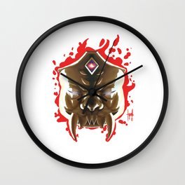 The Mask of the Third Eye Wall Clock