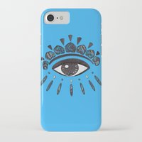 kenzo iPhone & iPod Cases featuring Kenzo eye blue by cvrcak