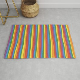 Horizontal Rainbow Stripes Rug