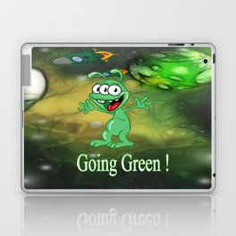 Monster Alien Cartoon in Alien Space Laptop & iPad Skin