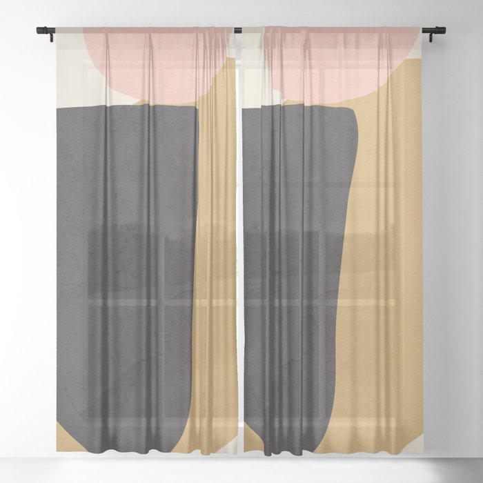 Abstract Shapes 34 Sheer Curtain