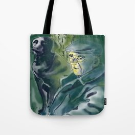 Old and dog Tote Bag
