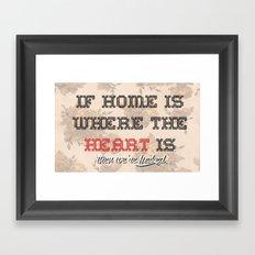 Home is where the  Framed Art Print