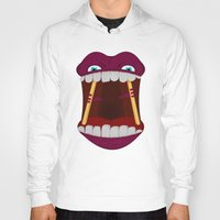 mouth Hoodies featuring Mouth by Alex Tim