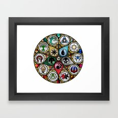 Magic the Gathering - Stained Glass Framed Art Print