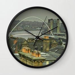Rooftops upon Tyne Wall Clock