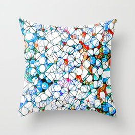 Glass stain mosaic 4 - dots & checkers Throw Pillow