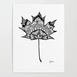 Mandala Maple Poster