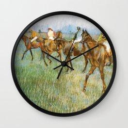 Jockeys In The Rain 1886 By Edgar Degas | Reproduction | Famous French Painter Wall Clock