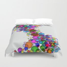 Colorful Spheres Duvet Cover