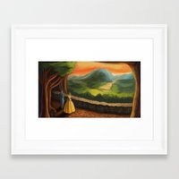 carmilla Framed Art Prints featuring Scene from Carmilla by Nick Helton