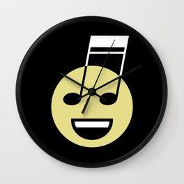 Musical smiley Wall Clock