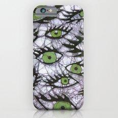 green eyes batik iPhone 6s Slim Case