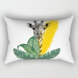 temporary design on the platform, African giraffe Rectangular Pillow