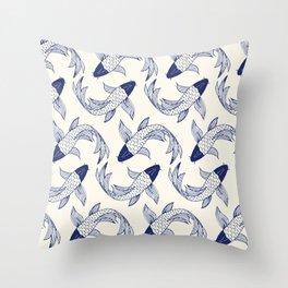 Japanese Koi Fish Pattern Throw Pillow