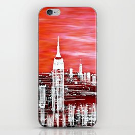 Abstract Red In The City Design iPhone Skin