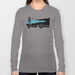 Great Lakes Coast Long Sleeve T-shirt