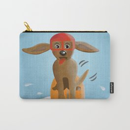 Surf Dog on Top of the Wave Carry-All Pouch