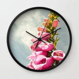 Foxglove Foxgloves PNW Northwest Flower Wildflower Invasive Species Pink Floral Washington Oregon Br Wall Clock