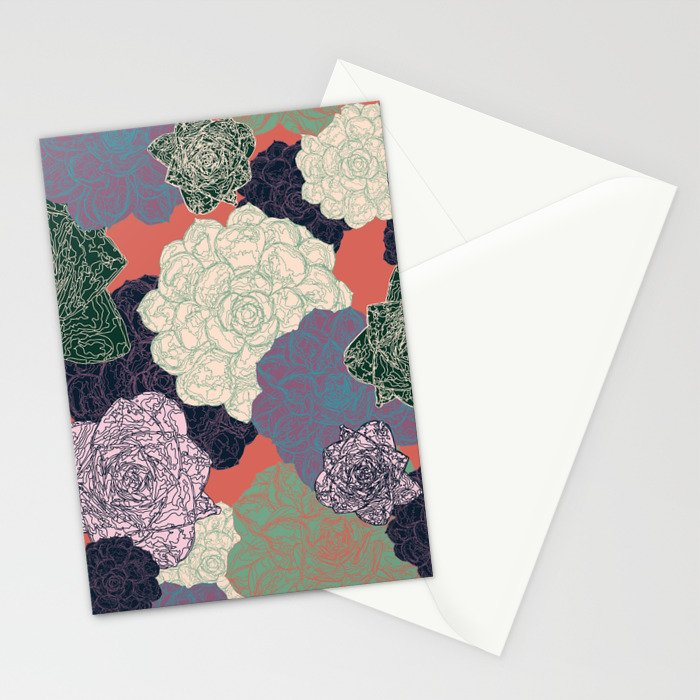 Spring Succulents Stationery Cards
