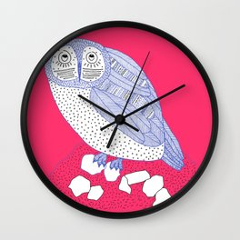 Just Another Owl Wall Clock